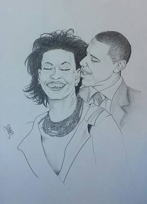 Michelle Obama Drawing - Bandmo by DMo Her