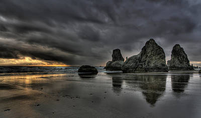 Bandon Beach Storm Art Print