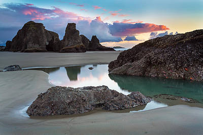 Pool Photograph - Bandon By The Sea by Robert Bynum