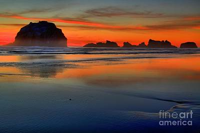 Photograph - Bandon Foggy Fire by Adam Jewell