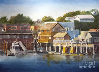 Bandon Harbor - Oregon Art Print by Anthony Coulson