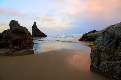 Photograph - Bandon Oregon Summer Sunset by Athena Mckinzie