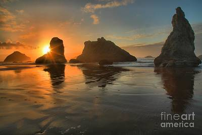 Photograph - Bandon Sunburst by Adam Jewell