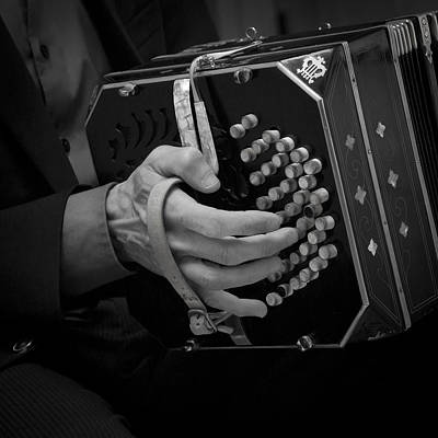Bandoneon Wall Art - Photograph - Bandoneon Player by PointShoot Photography By Mario Gozum