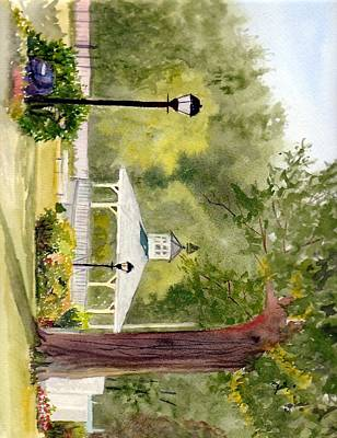 Bandstand Painting - Bandstand by Carol Burghart
