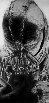 The Dark Knight Drawing - Bane by Robert Ceron