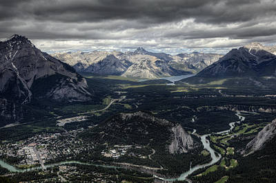 Sports Royalty-Free and Rights-Managed Images - Banff from Above by Monte Arnold