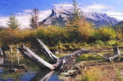 Banff Artist Painting - Banff National Park by Wayne Bonney