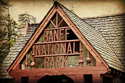 Banff Canada Photograph - Banff Park Entrance by Stephen Stookey