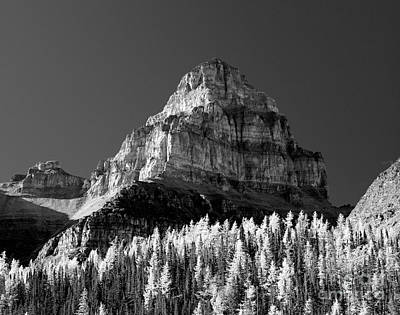 Photograph - Banff - Pinnancle Mountain Monochrome by Terry Elniski