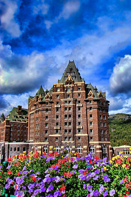 Photograph - Banff Springs Hotel  by Michele Wright