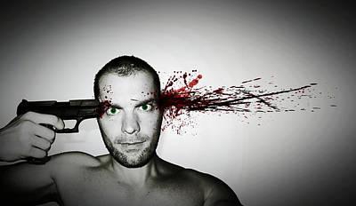 Suicide Wall Art - Photograph - Bang... by Nicklas Gustafsson