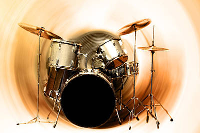 Drum Kit Digital Art - Bang On The Drum All Day by Bill Cannon