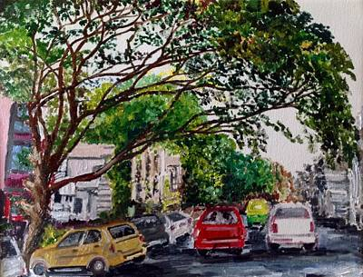 Painting - Bangalore Rain Trees by Aditi Bhatt