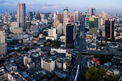 Bangkok  And City Scape  Original by Kwankhaow Podjana