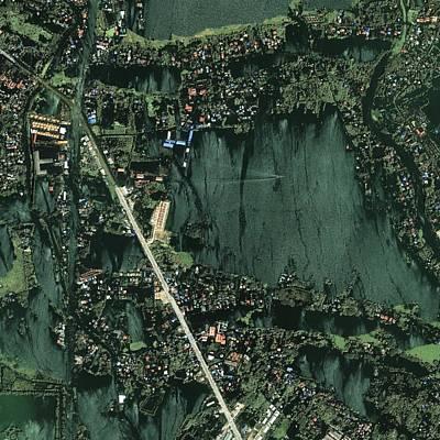 Bangkok Flooding 2011, Satellite Image Art Print