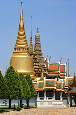 Bangkok Grand Palace Achitecture Art Print by Linda Phelps