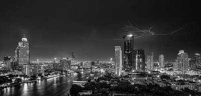 Lightning Photograph - Bangkok Lightning by Stefan Schilbe