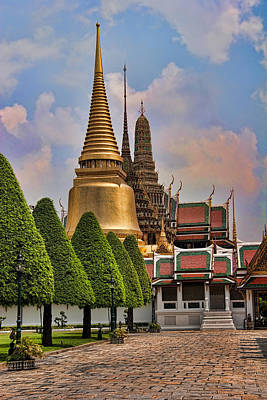 Wat Photograph - Bangkok Palace Temple 3 by David Smith