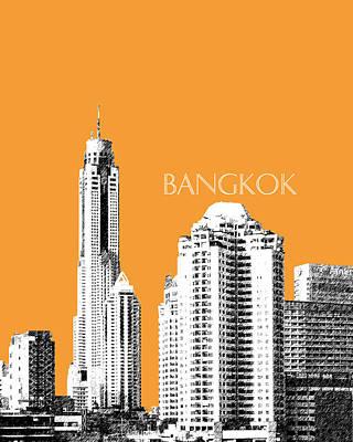 Pen Digital Art - Bangkok Thailand Skyline 1 by DB Artist