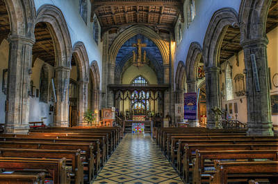 Bangor Cathedral V2 Art Print by Ian Mitchell