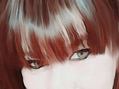 Portrait Study Mixed Media - Bangs by Dennis Buckman