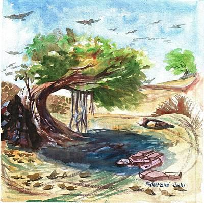 Not In Use Painting - Banyan Tree  by Makarand Joshi