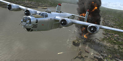 Wwii Digital Art - Banjarmasin by Robert Perry