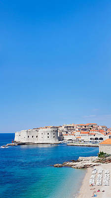 Dubrovnik Photograph - Banje Beach With Old Town Of Dubrovnik by Panoramic Images