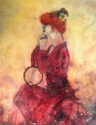 Banjo Painting - Banjo On My Knee by John YATO