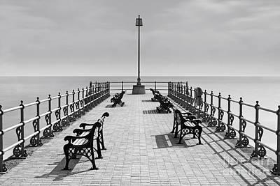 Swanage Pier Photograph - Banjo Pier Swanage Dorset by Richard Thomas