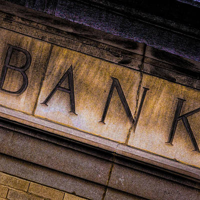 Photograph - Bank Facade Number 1 by Bob Orsillo