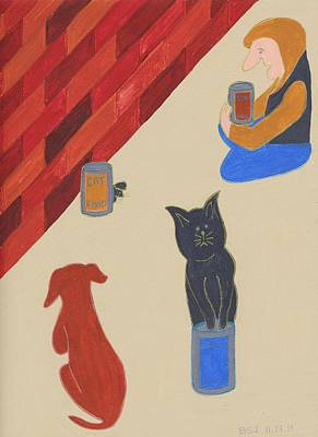 Homeless Pets Painting - Bank Food by Barbara St Jean