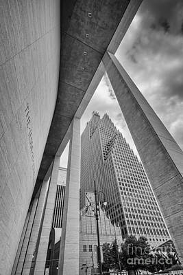 Photograph - Bank Of America Building Through The Pillars Of The Jesse Jones Hall - Houston Texas by Silvio Ligutti
