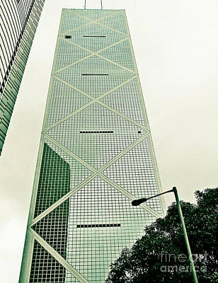 Photograph - Bank Of China by Ethna Gillespie