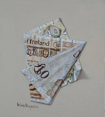 Painting - Bank Of Ireland Ten Pound Banknote by Barry Williamson