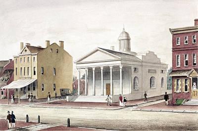 Philadelphia Scene Painting - Bank Of Pennsylvania by Granger