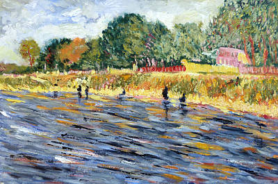 Painting - Bank Of Seine by Tom Roderick