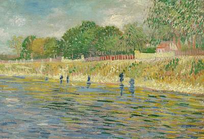 Textured Landscapes Painting - Bank Of The Seine by Vincent van Gogh
