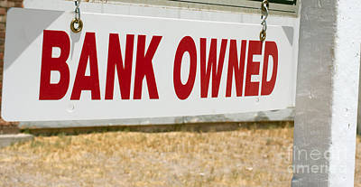 Photograph - Bank Owned Real Estate Sign by Gunter Nezhoda