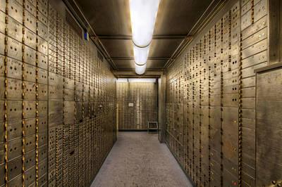 Bank Safe Deposit Boxes Art Print by David Gn