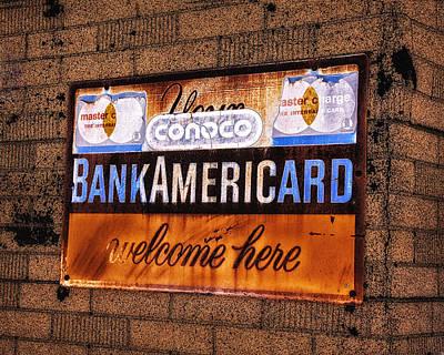 Bankamericard Welcome Here Art Print by Priscilla Burgers