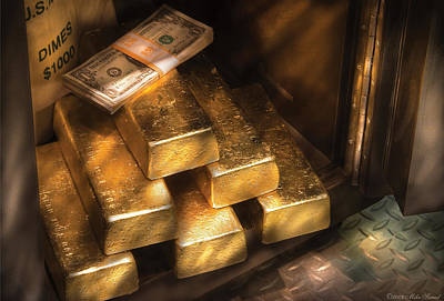 Golden Photograph - Banker - My Precious  by Mike Savad
