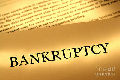 Debt Photograph - Bankruptcy Notice by Olivier Le Queinec