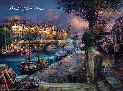 Number 24 Painting - Banks Of La Seine by Cao Yong