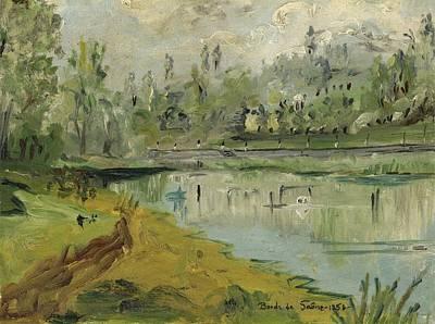 Banks Of The Saone River - Orig. Sold Art Print by Bernard RENOT