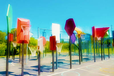 Bankshot Basketball 2 Print by Lanjee Chee