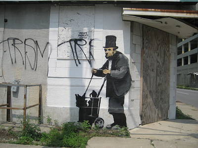 New Orleans Wall Art - Photograph - Banksy Lincoln In New Orleans by Arik Bennado
