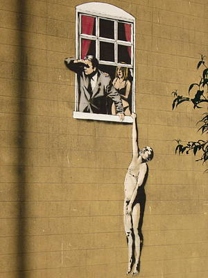 Hop Photograph - Banksy Lovers On Sex Health Clinic In Bristol by Arik Bennado
