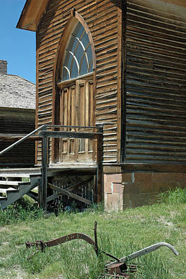 Bannack Church Art Print by Bruce Gourley